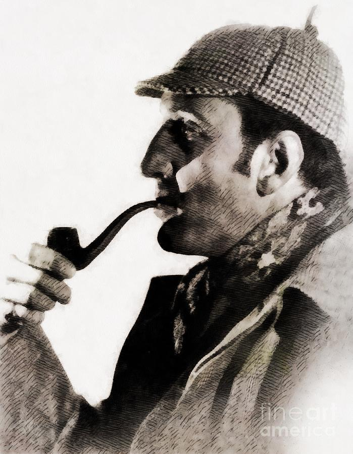 Basil Rathbone As Sherlock Holmes Painting