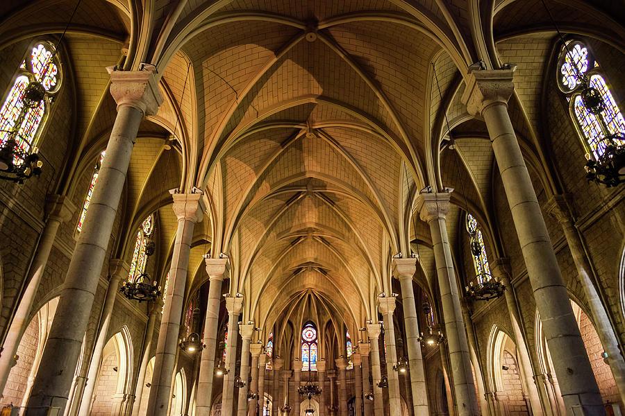 Basilica Of Notre Dame De Nice Ribbed Vault Photograph By Artur Bogacki