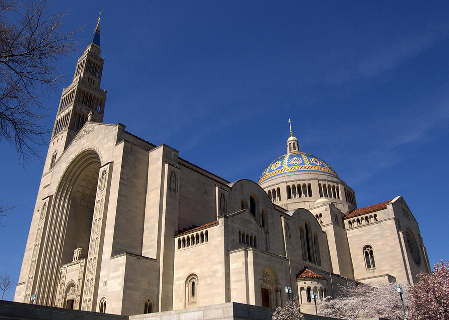 Basilica Photograph - Basilica Of The National Shrine Of The Immaculate Conception Washington Dc by Wayne Higgs