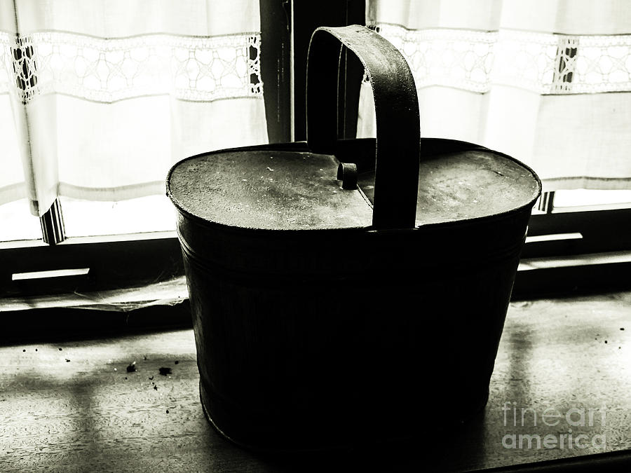 Still Life Photograph - Basket By The Window by Lexa Harpell
