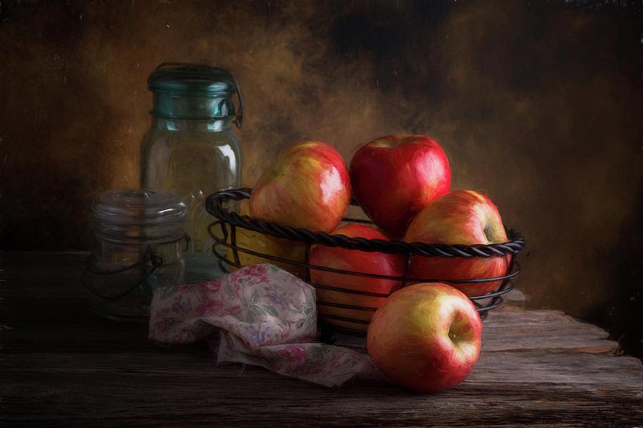 Apple Photograph - Basket Of Apples by Tom Mc Nemar
