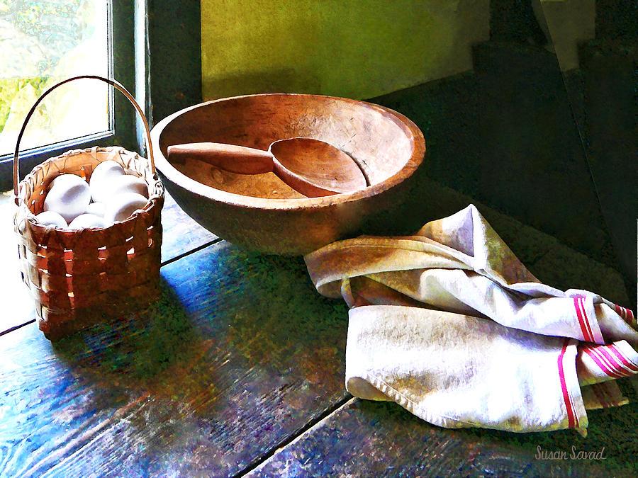 Egg Photograph - Basket Of Eggs by Susan Savad