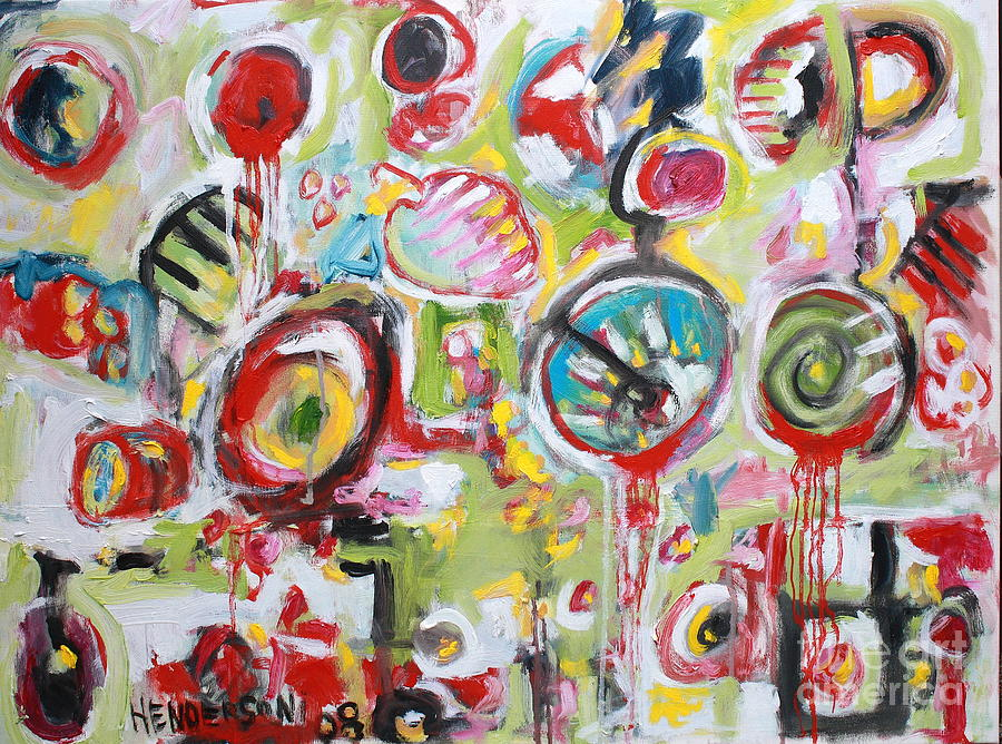 Abstract Painting Painting - Basket Of Fruit by Michael Henderson