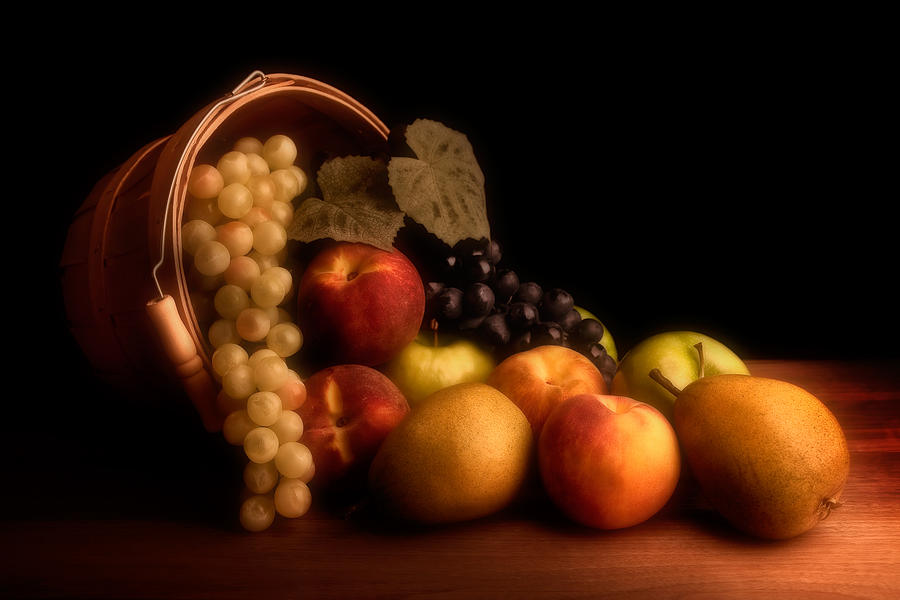 Fruit Photograph - Basket of Fruit by Tom Mc Nemar