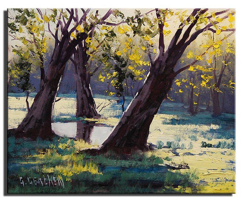 Impressionist Painting - Basket Willows  Australia by Graham Gercken