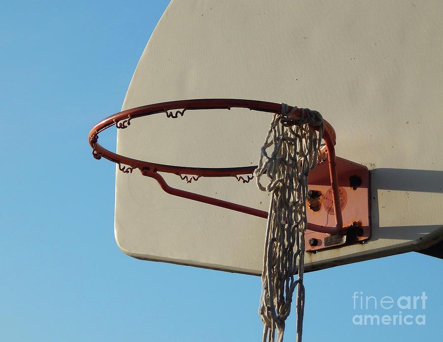 Basketball Photograph - Basketball Hoop by Phil Perkins
