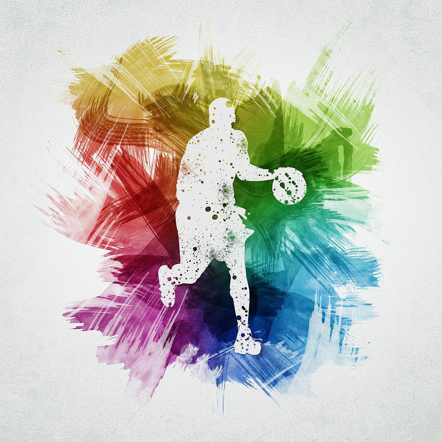Basketball Player Art 16 Digital Art