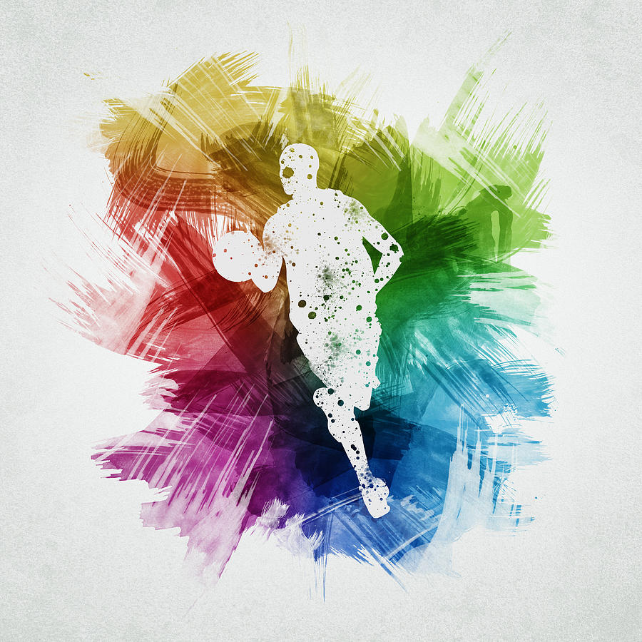 Basketball Player Art 17 Digital Art By Aged Pixel