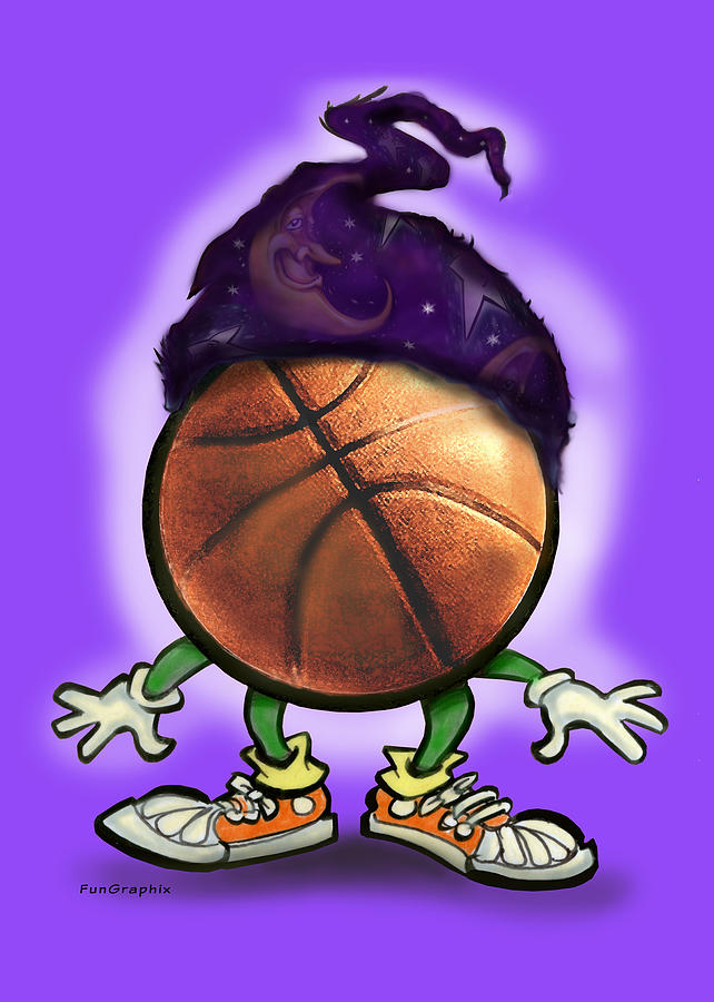 Basketball Greeting Card - Basketball Wizard by Kevin Middleton