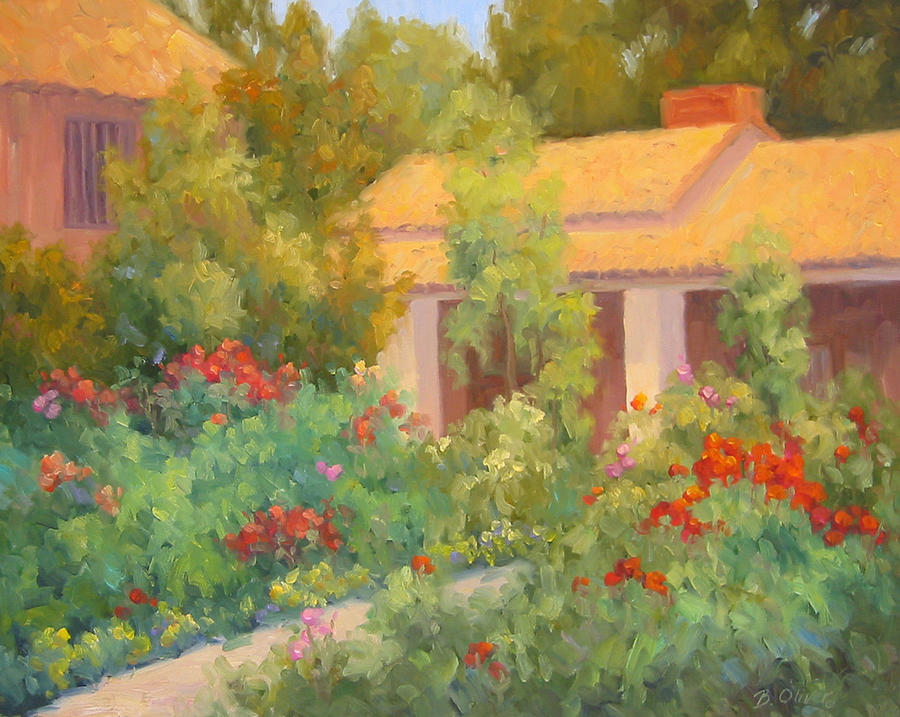 Garden Painting - Basking In Sunshine by Bunny Oliver