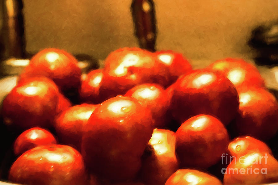Tomatoes Photograph - Basket Of Tomatoes M1 3309t2 - Photo Art by Doug Berry