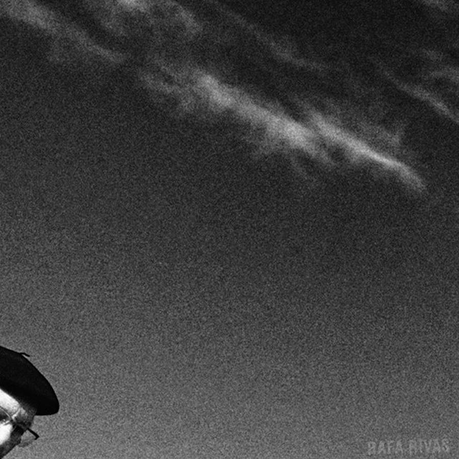 Hat Photograph - Basque Man  #man #señor #beret by Rafa Rivas