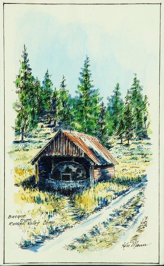 Basque Oven - Russell Valley Drawing by Kenneth Mann
