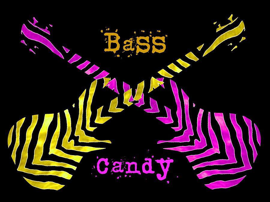 Guitar Digital Art - Bass Candy by Guitar Wacky
