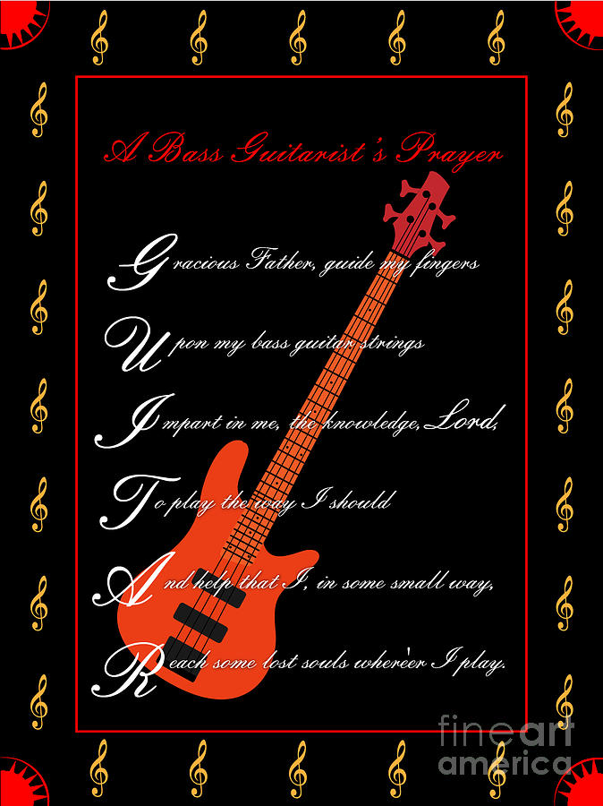 Bass Guitar_1 Digital Art by Joe Greenidge