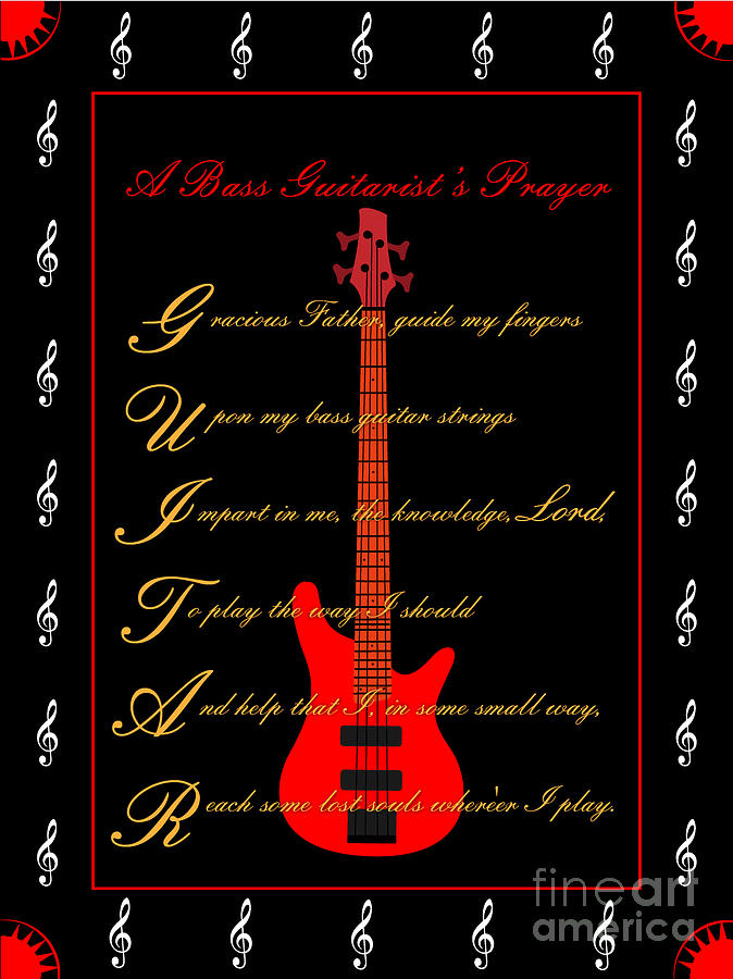Bass Guitar_2 Digital Art by Joe Greenidge