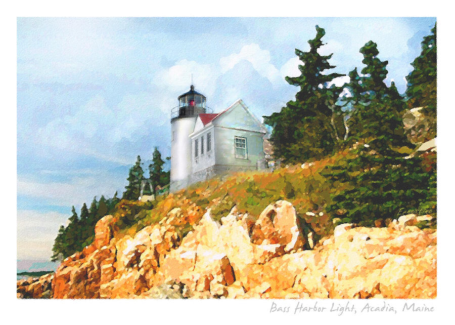 Lighthouse Painting - Bass Harbor Light by Ernestine Grindal