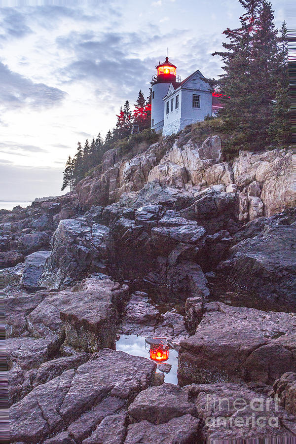 Bass Harbor Light Reflection by Crystal Nederman