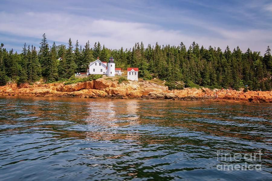 Bass Harbor Lighthouse Oceanside Photograph