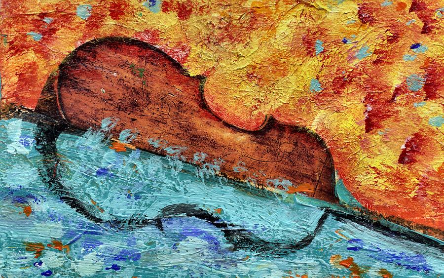 Double Bass Painting - Bass On Water by Eric HERVE