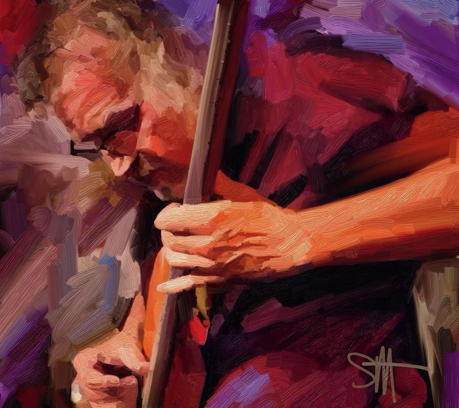 Bass Player Digital Art - Bass Player by Scott Waters