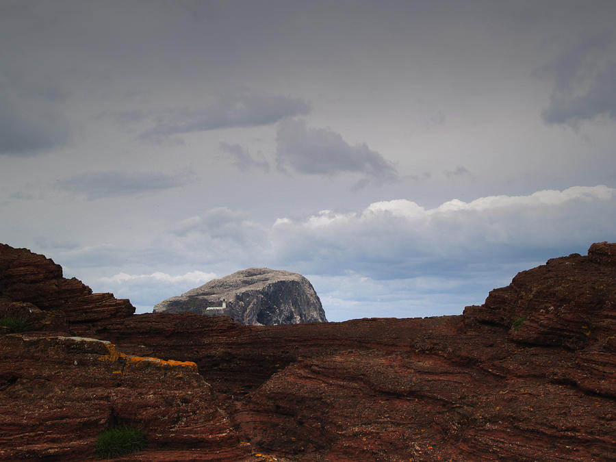 Rocks Photograph - Bass Rock from Seacliff by Steve Watson