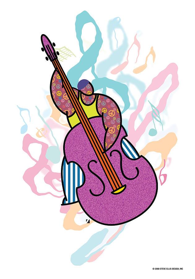 Music Digital Art - Bass by Steve Ellis