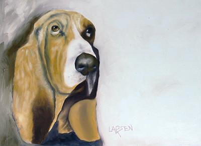 Bassett Hound Painting - Bassett Hound by Dick Larsen