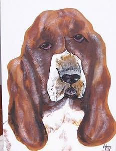 Bassett Hound Painting - Bassett Hound by Kathy Young