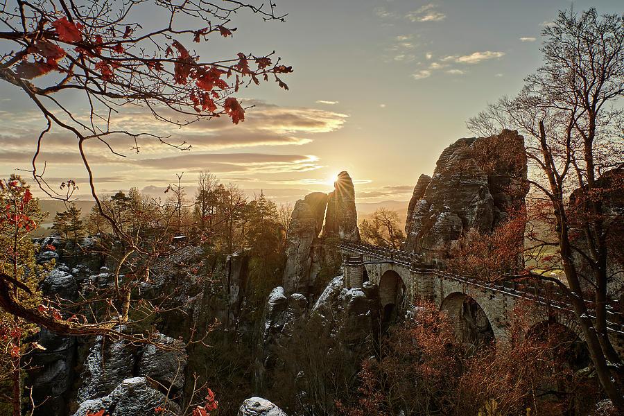 Bastei Bridge Sunrise Photograph