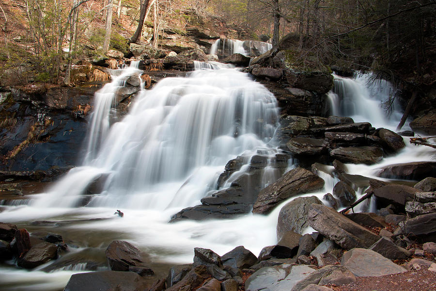 Waterfall Photograph - Bastion Falls In April by Jeff Severson