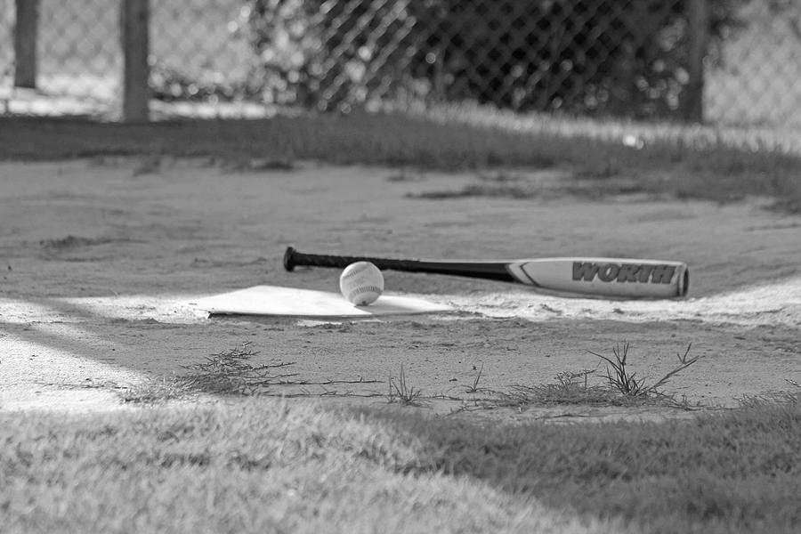 Bat Photograph - Bat And Ball by Sheryl West