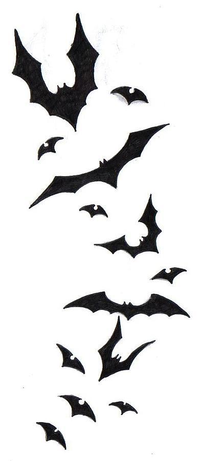 Bat tattoo design drawing by ninja spirit for How to draw a small bat