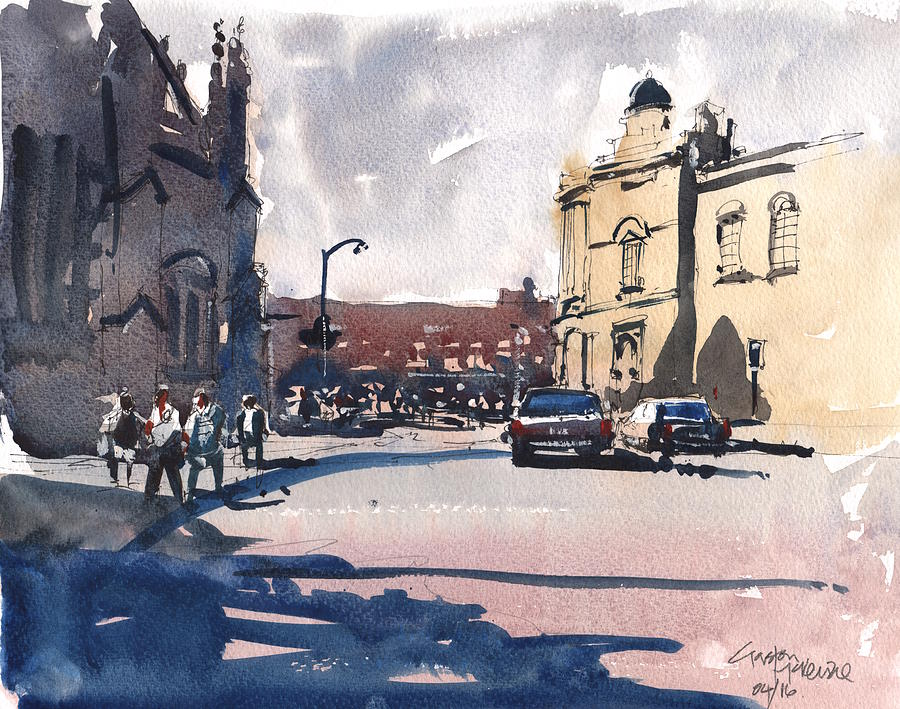 Watercolour Painting - Bath Cathedral by Gaston McKenzie