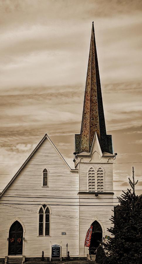 Church Photograph - Bath Congregational Church by Deborah Klubertanz
