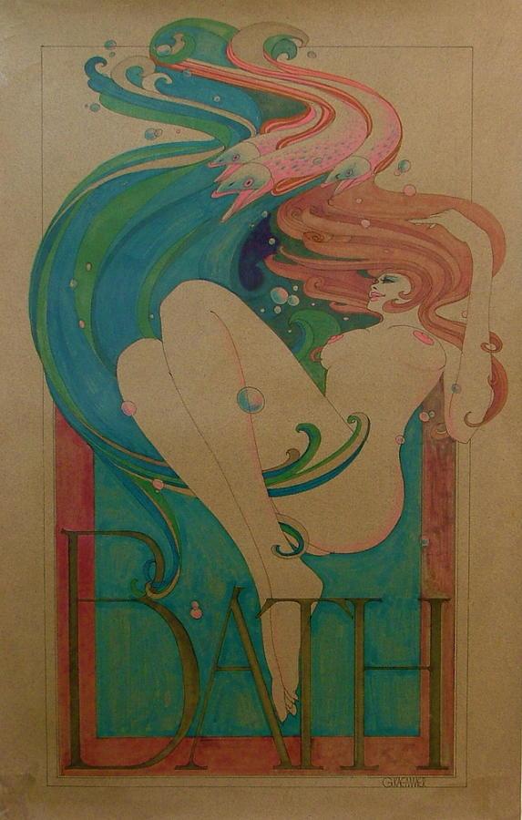 Female Painting - Bath by Gary Kaemmer
