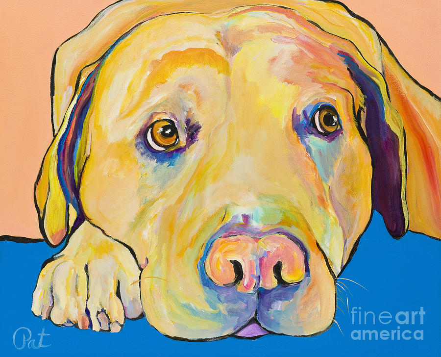 Pet Portraits Painting - Bath Time by Pat Saunders-White