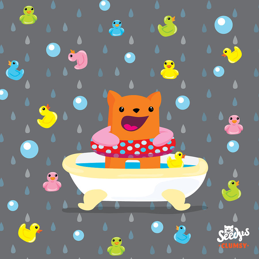 Rubber Duck Digital Art - Bath Time  by Seedys