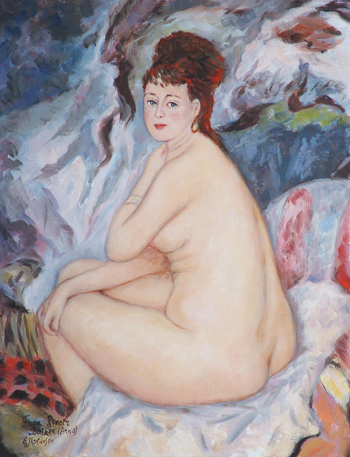 Portrait Painting - Bather  My Reproduction Of Renoirs Work by Ekaterina Mortensen