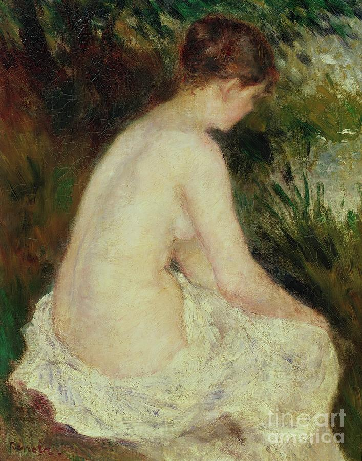Bather Painting - Bather by Pierre Auguste Renoir