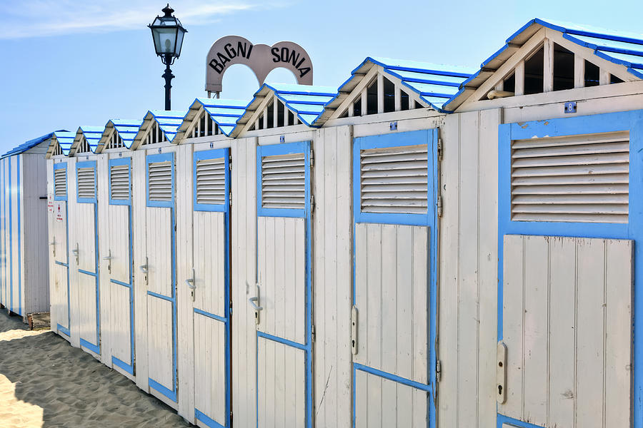 Laigueglia Photograph - Bathhouses In The Mediterranean by Joana Kruse