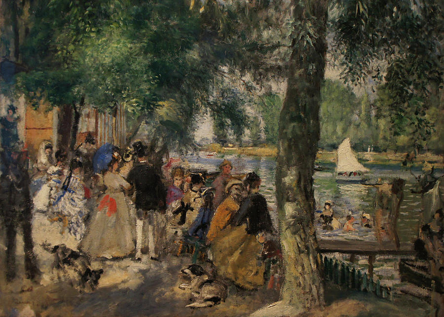 Impressionist Painting - Bathing On The Seine by Pierre Auguste Renoir