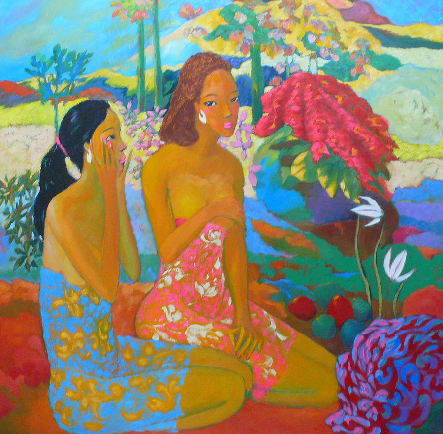 Bathing7 Painting by Tung Nguyen Hoang