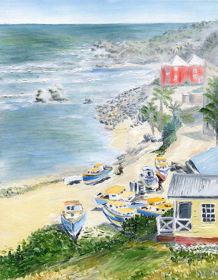Barbados Painting - Bathsheba Lookout by Richard Jules