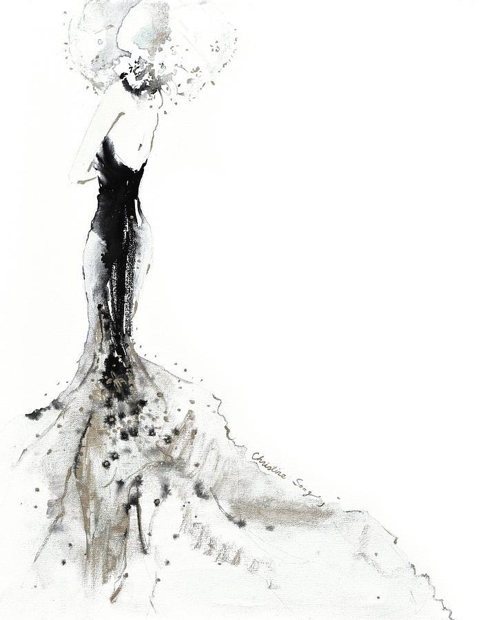 Fashion Illustration Painting - Bathsheba No.2 by Christine Song
