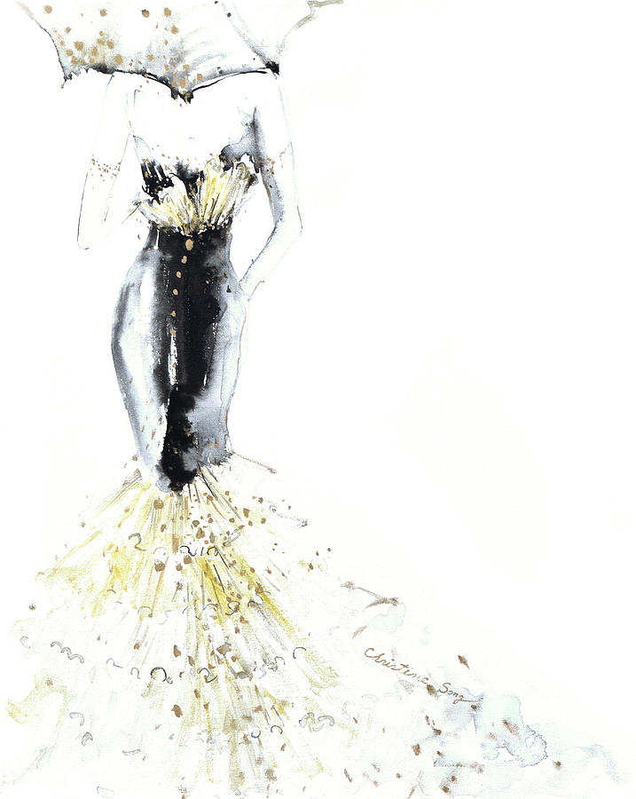 Fashion Illustration Painting - Bathsheba No.3 by Christine Song