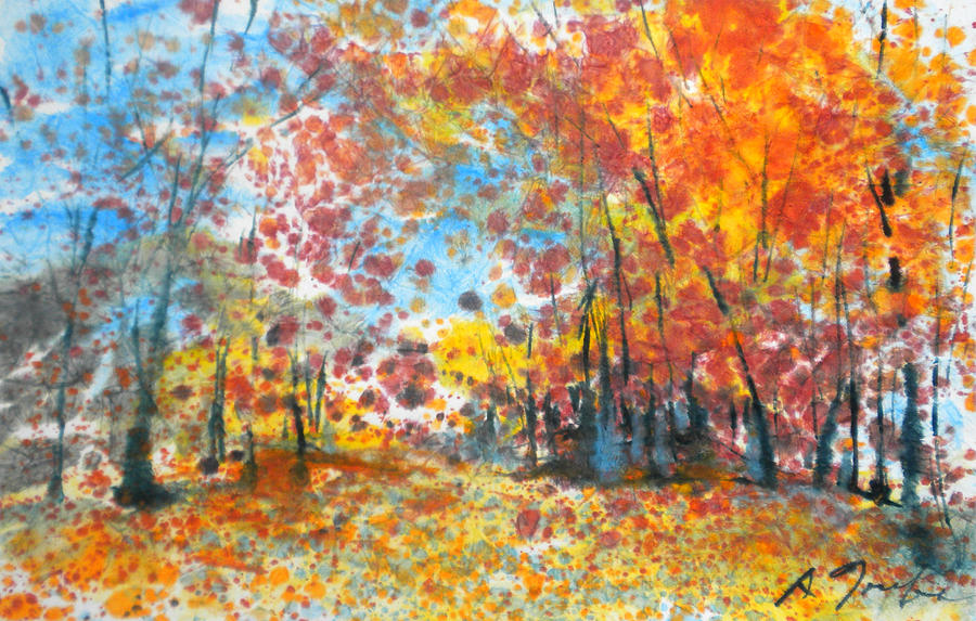 Batik Style/New England Fall-Scape L-No.1 by Sumiyo Toribe