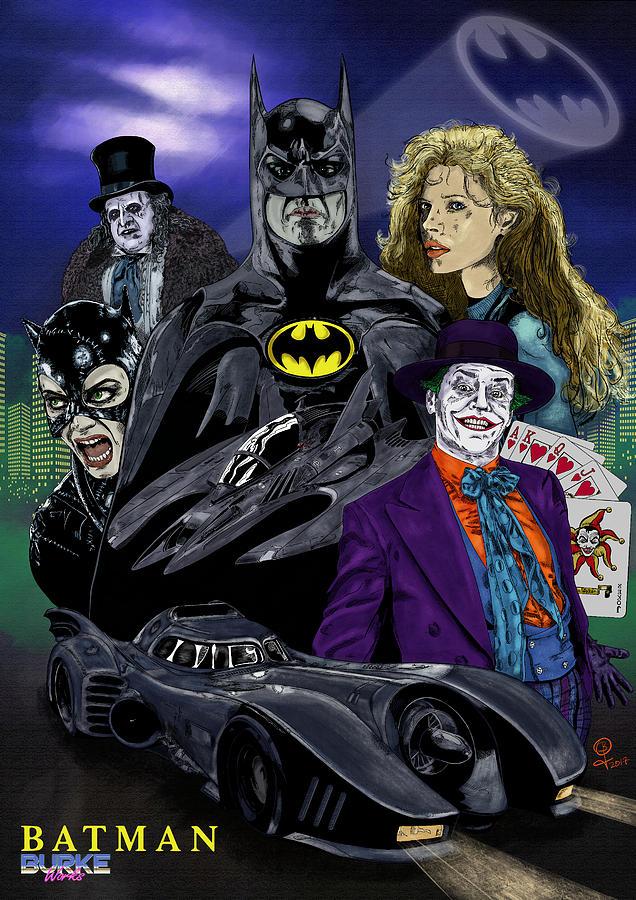 Batman Digital Art - Batman 1989 by Joseph Burke