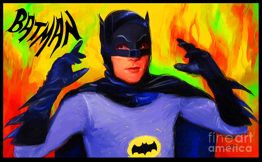 Batman Digital Art - Batman, Adam West by Dori Hartley