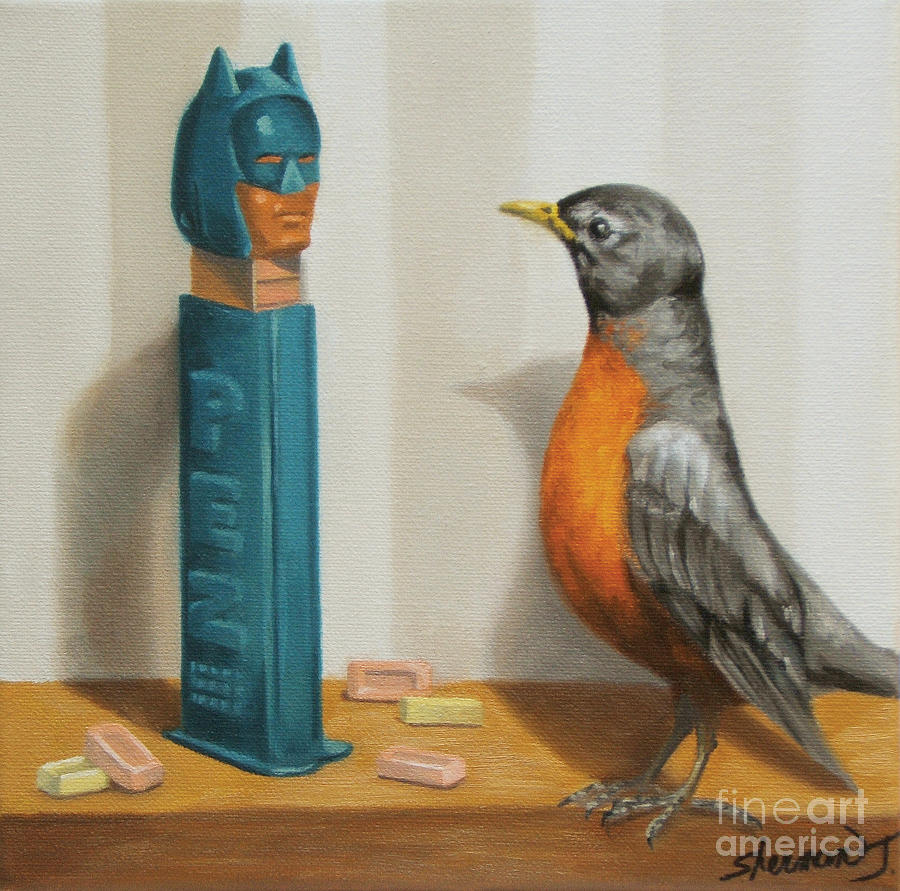 Batman Painting - Batman And Robin by Judy Sherman